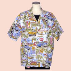 ce16a588 1990s Route 66 Pacific Legend Cotton Shirt Made in Hawaii. My Vintage Clothes  Line