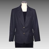 Vintage 1970s Givenchy Sport Black Wool Ladies Coat Jacket