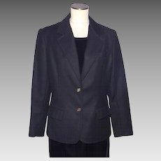 Vintage 1970s Givenchy Sport Black Wool Ladies Coat Jacket
