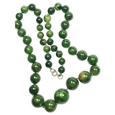Marbled Green Bakelite Necklace