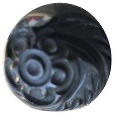 Beautiful Floral Carved Bakelite Ring