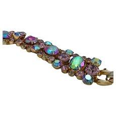 Vintage Juliana D & E Alexandrite Color-Changing Stones Bracelet, AWESOME