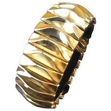 Vintage Trifari Expandable Goldtone Expansion Bracelet