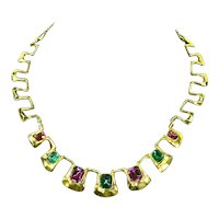 Egyptian Revival style Jeweled Collar Necklace
