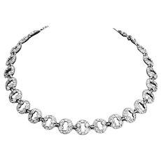 Bogoff Art Deco style Rhinestone Necklace – Signed – 1950s