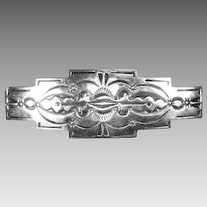 Sterling Silver Native American Navajo Hair Barrette – signed LLL