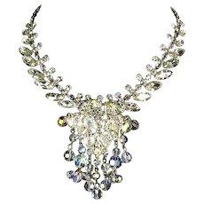 Delizza and Elster Juliana Crystal Bead Dangles Rhinestone Necklace – Book Piece