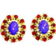 Kenneth Jay Lane K.J.L. 1960s Mogul/Moghul style Earrings