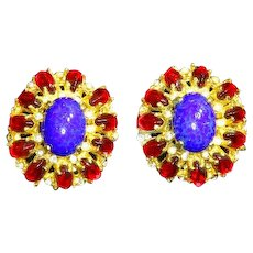 Kenneth Jay Lane K.J.L. 1960s Mogul/Moghul style Earrings