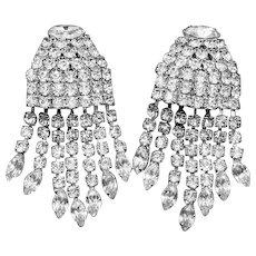 Weiss signed Rhinestone Dangle Earrings