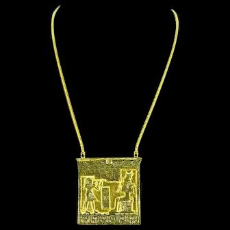 Accessocraft Egyptian Revival Pendant – Rare – 1960s
