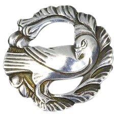 Dove Pin – George Jensen Design – Sterling – Unsigned