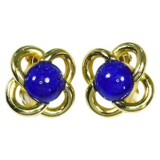 Christian Dior faux Lapis 'Love Knot' Earrings