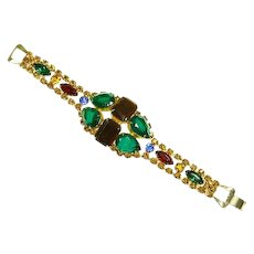 Weiss Multi Color Rhinestone Bracelet – Unsigned