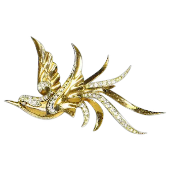 Marcel Boucher Left Facing Swallow Bird Pin –Phrygian Cap MB – 1945 – Rare