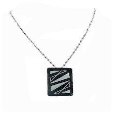 Jorgen Jensen Modernist Mid Century Pewter Pendant/Necklace – 1960s