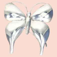 Large Butterfly Barrette – Sterling Silver