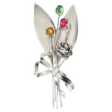 Coro Sterling Flower Bouquet Pin – 1942