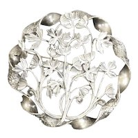 Arts and Crafts Era Sterling Silver Pin – Poppies