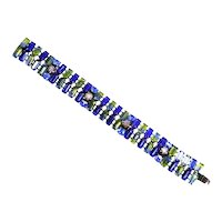 Kramer Cobalt Blue and Green Bicolor Givre Bracelet – Fabulous