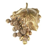 Reinad N.Y.C. Bunch of Grapes Dress Clip – 1930s – Huge