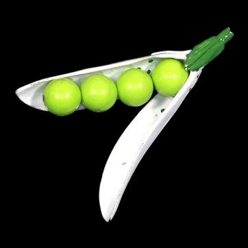 Peas in a Pod Enamel Figural Pin – Van S Authentics