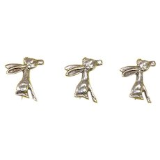 Mexico Early Donkey Figural Scatter Pins – Three – Sterling