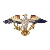 Eisenberg Ice Patriotic Eagle Pin – 1980s/1990s
