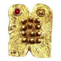 Modernist Dani Karavan/Karavum 10 Commandments Pin/Pendant – 1976 – Judaica