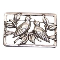 Sterling Craft by Coro – Repoussé Lovebirds on Branch – late 1942