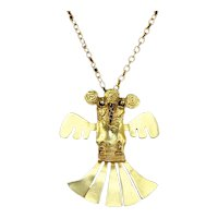 Two Headed Bird Pendant – Gold Plated – Book Piece