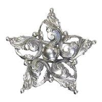 Gugliemo Cini Sterling figural Star Brooch – Art Nouveau style