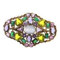 Fabulous Rhinestone Pin – likely Austrian/Czechoslovakian