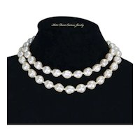 Ciro of London Baroque faux Pearl Double Strand Necklace – Original Box