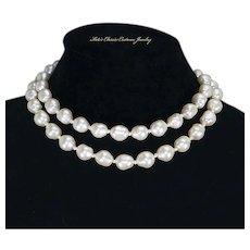Ciro of London Baroque faux Pearl Double Strand Necklace – Original Box
