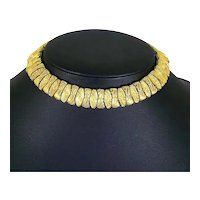 Ciner Textured Gold Tone Collar Necklace – Modernist