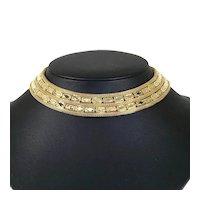Kramer Gold Tone Collar Necklace