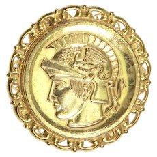 Miriam Haskell Classical Roman Figural Brooch – 1970s – Larry Vrba