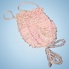 Lovely Beaded Crochet Purse for French Fashion or French or German Doll