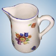Miniature Hand Painted French Pitcher Perfect for French Fashion Doll Or China Head
