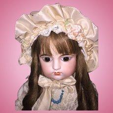 Lovely Pastel Taffeta Doll Bonnet for French or German Doll