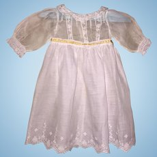 Sweet Early 20th C Baby Dress for Antique Doll