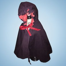 Lovely Old Wool Cape for French or German Doll