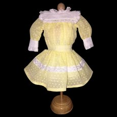 Darling Dotted Swiss Dress For Petite French or German Doll