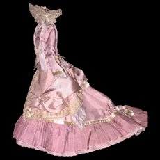 Beautiful Silk French Fashion Walking Suit and Bonnet