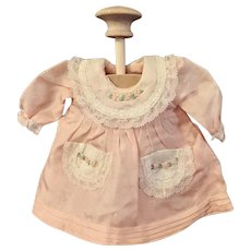 Pale Pink Silk Dress for Small French or German Doll