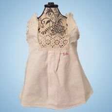 Lovely Original Camisole for French or German Doll or Child