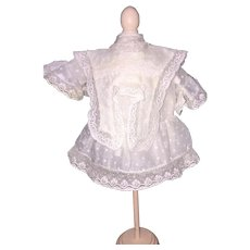 Darling White Doll Dress for Small French or German Doll