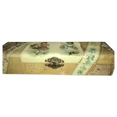 Celluloid Glove Box with Children Perfect for Displaying Doll Accessories
