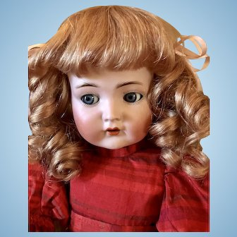 Gorgeous French Cheveux Human Hair Wig For French or German Doll